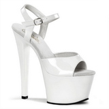 White Shiny 18 cm Pleaser SKY-309 Platform High Heels Shoes