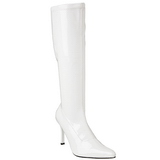 White Shiny 9,5 cm FUNTASMA LUST-2000 Women Knee Boots