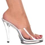 White Transparent 12 cm FLAIR-401 High Women Mules Shoes for Men