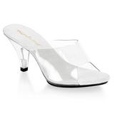 White Transparent 8 cm BELLE-301 Women Mules Shoes