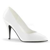 White Varnished 10 cm VANITY-420 Women Pumps Shoes Flat Heels