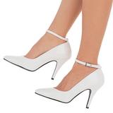 White Varnished 10 cm VANITY-431 Women Pumps Shoes Flat Heels