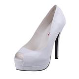 White Varnished 13,5 cm BELLA-12 Women Pumps Shoes Stiletto Heels