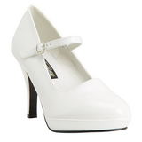 Wit 10 cm CONTESSA-50 Mary Jane Pumps Schoenen