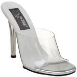 Wit 11,5 cm FABULICIOUS GALA-01 dames slippers met hak
