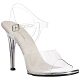 Wit 11,5 cm FABULICIOUS GALA-08 Hoge avond sandalen met hak