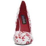 Wit 13 cm BLOODY-12 damesschoenen met hoge hak
