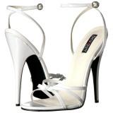 Wit 15 cm Devious DOMINA-108 sandalen met naaldhak