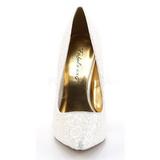 Wit Glitter 13 cm AMUSE-20G Hoge Avond Pumps Schoenen met Hak