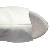 Wit Kunstleer 15 cm DELIGHT-3019 overknee laarzen med plateauzool