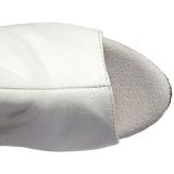 Wit Kunstleer 15 cm DELIGHT-3019 overknee laarzen met plateauzool