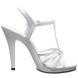 Wit Lak 12 cm FLAIR-420 Dames Sandalen met Hak