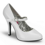Wit Lak 12 cm rockabilly TEMPT-35 Dames pumps met lage hak