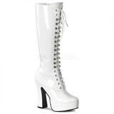 Wit Lak 13 cm ELECTRA-2020 Dameslaarzen met hak voor Heren