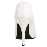 Wit Lak 13 cm SEDUCE-420 Hoge Hakken Pumps voor Heren