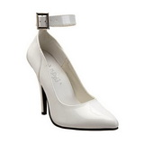 Wit Lak 13 cm SEDUCE-431 Dames pumps met lage hak