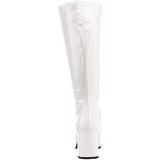Wit Lak 8,5 cm GOGO-300 Dameslaarzen met hak voor Heren