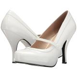 Wit Lakleer 11,5 cm PINUP-01 grote maten pumps schoenen