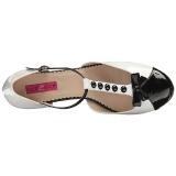Wit Lakleer 11,5 cm PINUP-02 grote maten pumps schoenen