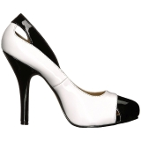 Wit Lakleer 12,5 cm EVE-07 grote maten pumps schoenen