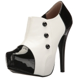 Wit Lakleer 13,5 cm CHLOE-11 grote maten pumps schoenen
