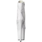 Wit Lakleer 20 cm FLAMINGO-1021 dames enkellaarsjes met plateauzool