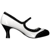 Wit Lakleer 7,5 cm JENNA-06 grote maten pumps schoenen