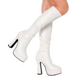 Wit Mat 13 cm ELECTRA-2000Z Dameslaarzen met hak voor Heren