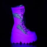 Wit Neon 11,5 cm SHAKER-70 cyberpunk plateau laarzen