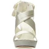 Wit Satijn 12 cm LUMINA-29 Hoge Avond Sandalen met Hak