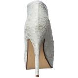 Wit Satijn 13 cm LOLITA-32 Hoge Avond Pumps Schoenen met Hak