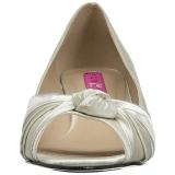 Wit Satijn 5 cm FAB-422 grote maten pumps schoenen