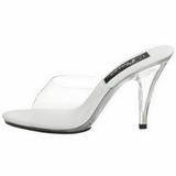 Wit Transparant 11 cm CARESS-401 Hoge Dames Slippers
