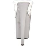 Wit Transparant 20 cm XTREME-802 Platform Hoge Dames Slippers