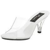 Wit Transparant 8 cm BELLE-301 Hoge Dames Slippers