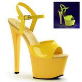 Yellow Neon 18 cm Pleaser SKY-309UV Platform High Heels