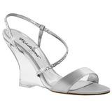 Zilver 10,5 cm LOVELY-417 Hoge Sandalen met Sleehakken