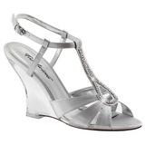Zilver 10,5 cm LOVELY-420 Hoge Sandalen met Sleehakken
