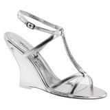 Zilver 10,5 cm LOVELY-428 Hoge Sandalen met Sleehakken