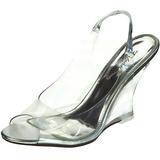 Zilver 10,5 cm LOVELY-450 Hoge Sandalen met Sleehakken