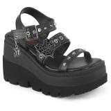 Zilver 11,5 cm CELESTE-09 glitter sandalen met blokhak