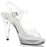 Zilver 11,5 cm FLAIR-408 high heels schoenen voor travestie