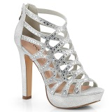 Zilver 11,5 cm Pleaser SELENE-24 Sandalen met hoge hakken