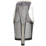 Zilver 18 cm ADORE-701G Glitter Plateau Hoge Mules