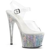 Zilver 18 cm ADORE-708HB Hologram plateau schoenen dames met hak