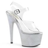 Zilver 18 cm ADORE-708HG Hologram plateau schoenen dames met hak