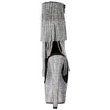 Zilver 18 cm BEJEWELED-1024RSF-7 dames enkellaarsjes met franjes