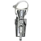 Zilver 18 cm Pleaser REVOLVER-709G High Heels Chroom Plateau
