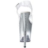 Zilver 20 cm STARDUST-808T Plateau Sandalen met Hoge Hak