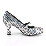 Zilver 7,5 cm MERMAID-70 pumps schoenen met lage hakken